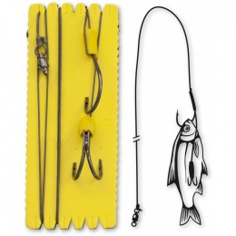 Монтаж за сом Bouy and Boat Ghost Double Hook Rig Black Cat