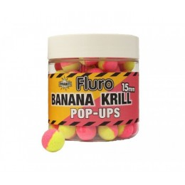 Pop-up топчета Dynamite Baits Two Tone Fluro Krill & Banana 15mm